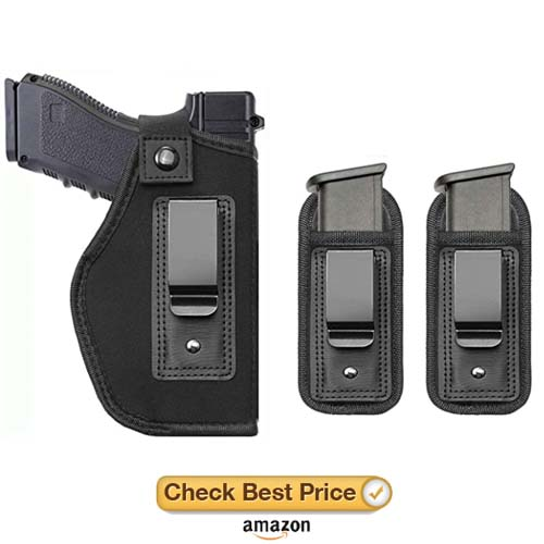 TACwolf Universal Magazine IWB Holster for Concealed Carry Pouch Single Double Stack Inside The Waistband Fits Firearms Glock